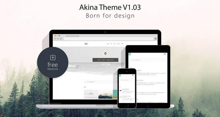 一个传奇的设计师主题Akina【wordpress开源免费主题】